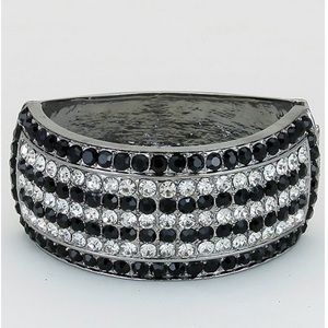 Jewelry - Black Silver Egyptian Pave Bracelet